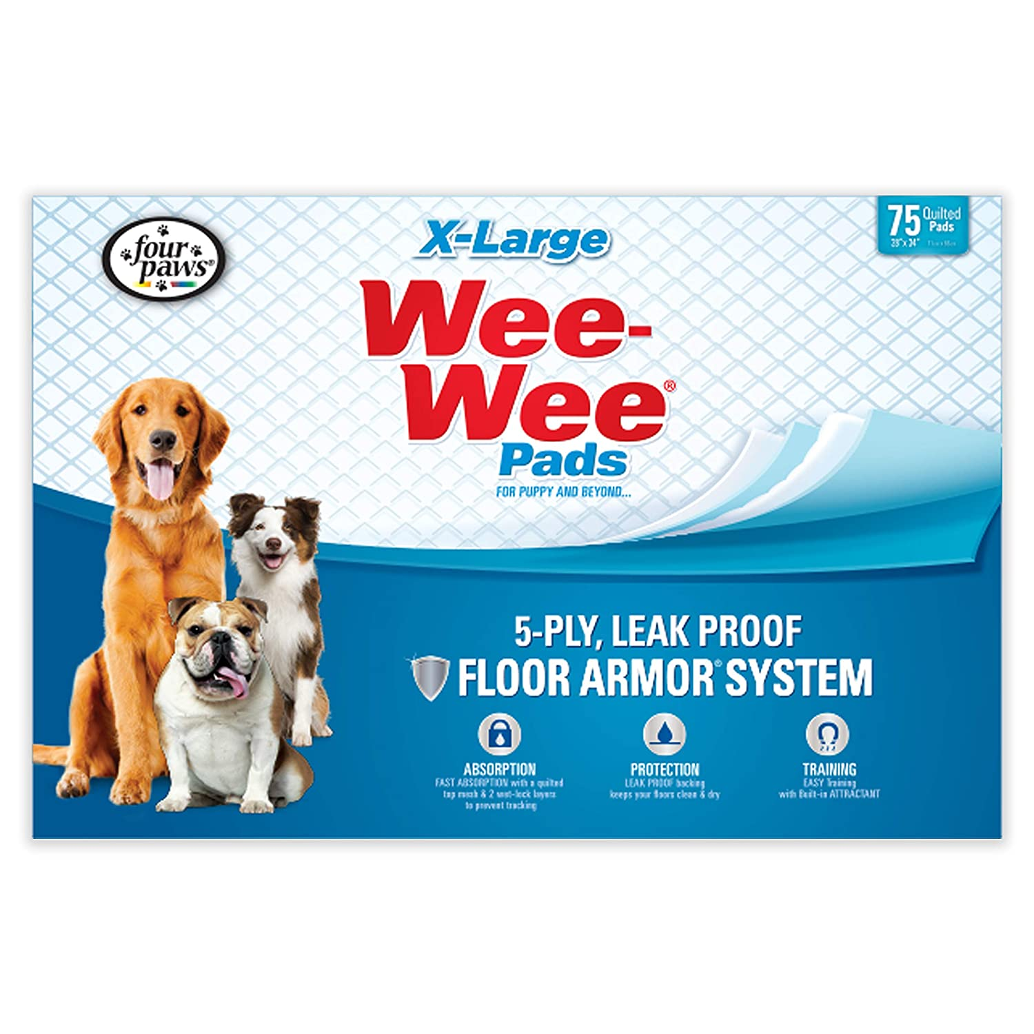 d63ff1474723 Four Paws Wee-Wee Extra Large Puppy Pads