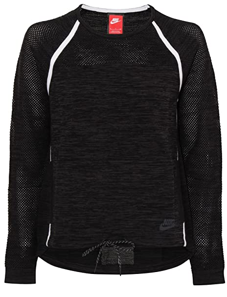 f3845a3fb4d9 Nike Tech Knit Crew Womens Sweatshirt at Amazon Women s Clothing store
