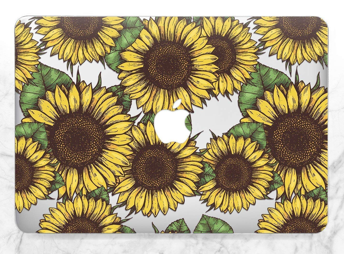 B07CSV73F5 Vintage Floral Yellow Summer Sunflowers Hard Plastic Cover Case For Apple Macbook Air Pro 11 12 13 15 2016 2017 2018 Inch Retina Touch Bar 81A7k4LbS2BL