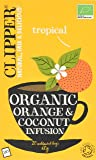 Clipper Organic Orange & Coconut 20 Teabags (Pack of 6, Total 120 Teabags)