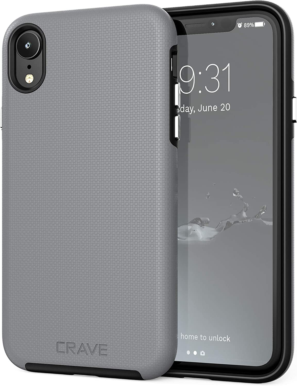 iPhone XR Case, Crave Dual Guard Protection Series Case for Apple iPhone XR (6.1 inch) - Slate