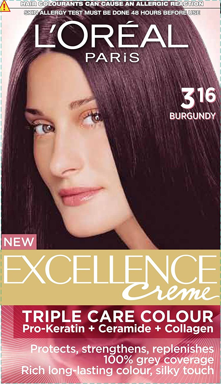 Loreal hair color quiz - Buy L Oreal Paris Excellence Creme Burgundy 316 72ml 100g Online At Low Prices In India Amazon In