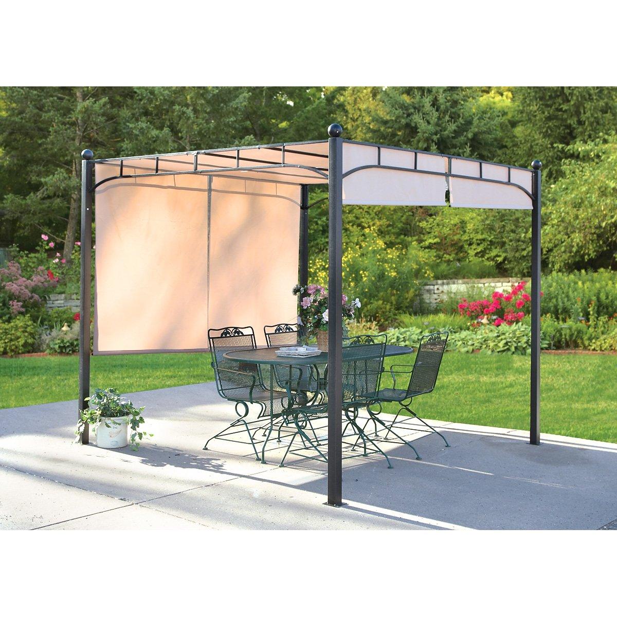 Amazon.com : CASTLECREEK Freestanding Pergola with Adjustable Shade &  Canopy : Patio, Lawn & Garden - Amazon.com : CASTLECREEK Freestanding Pergola With Adjustable