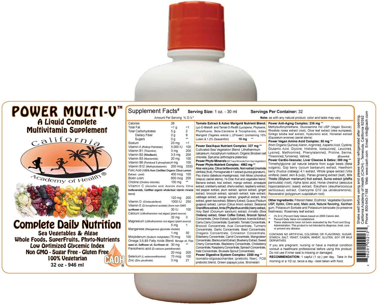 Liquid Power Multi-V – Nutrient Blend from CAOH 1-32 oz Bottle