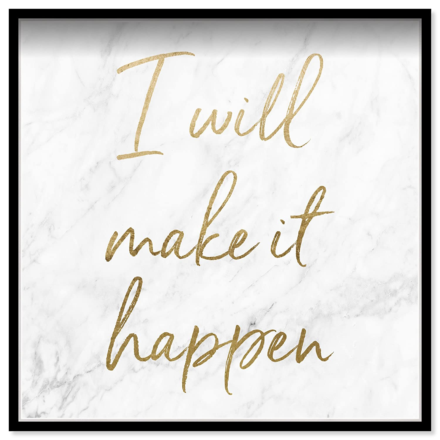 Oliver Gal I Will Make It Happen Contemporary Framed Wall Art Print for Home Decor 24 x 24