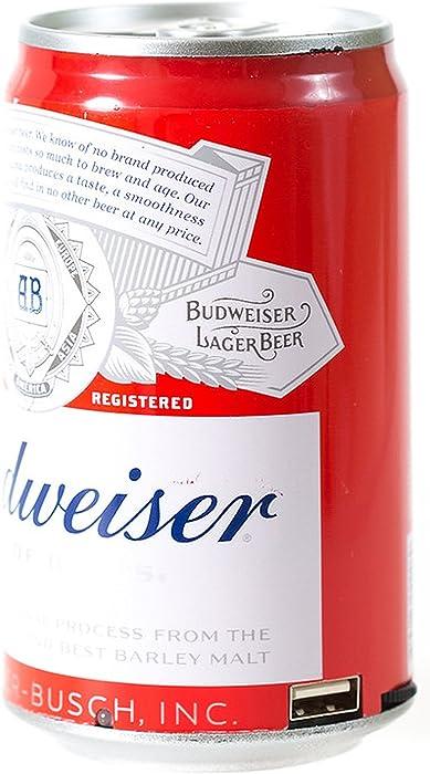 Budweiser Bluetooth Can Speaker- Wireless Audio Sound Stereo Beer Can, Bluetooth Budweiser Music Player (Budweiser Red)
