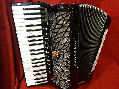 Nueva scandalli Piano acordeón negro Aire I S lmmm 120 Bass ...