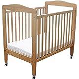 LA Baby Compact Non-folding Wooden Window Crib, Natural