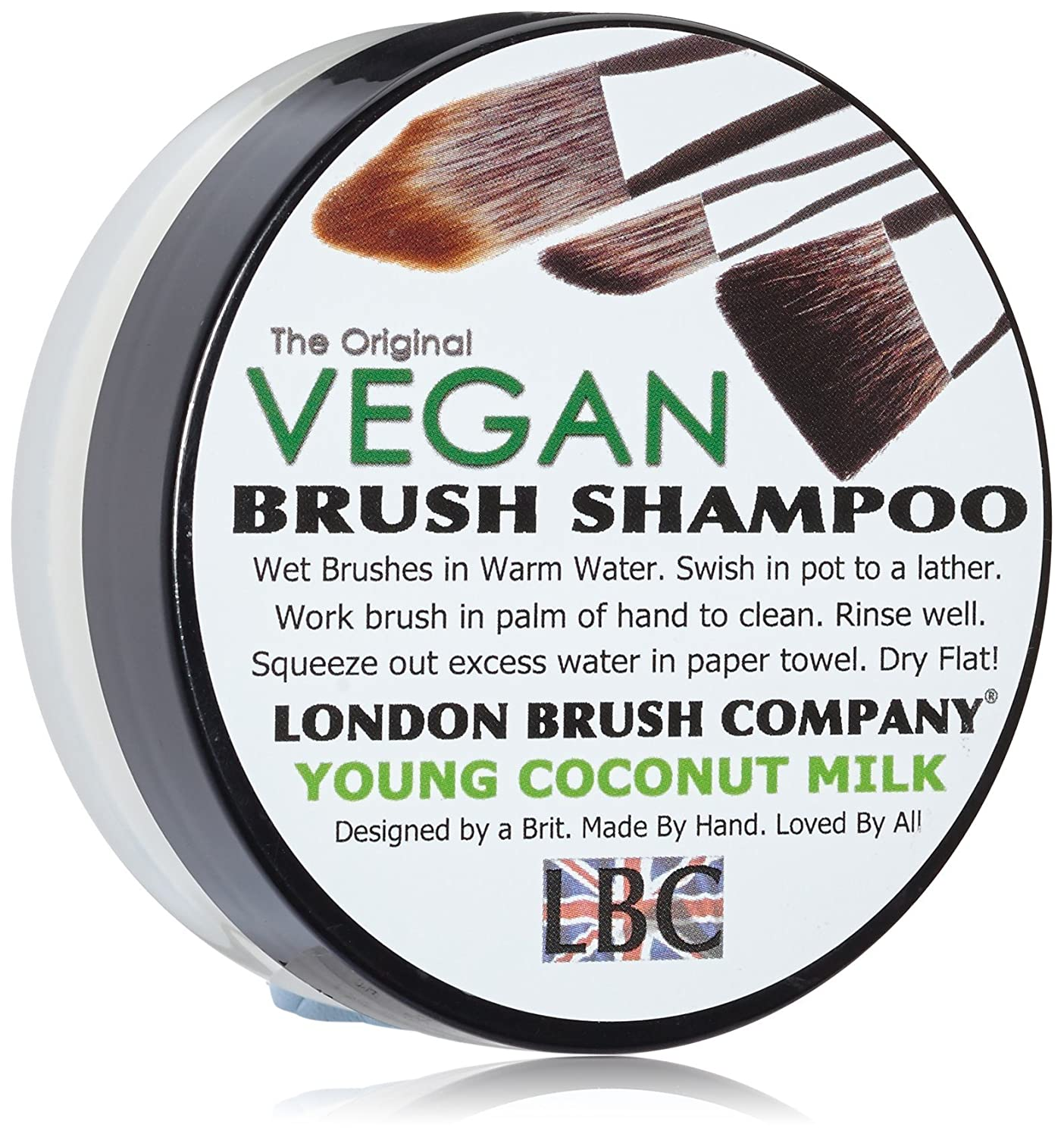 LONDON BRUSH COMPANY Vegan Young Coconut Milk Solid Brush Shampoo, Young Coconut 28 g BSVEGCOCO1