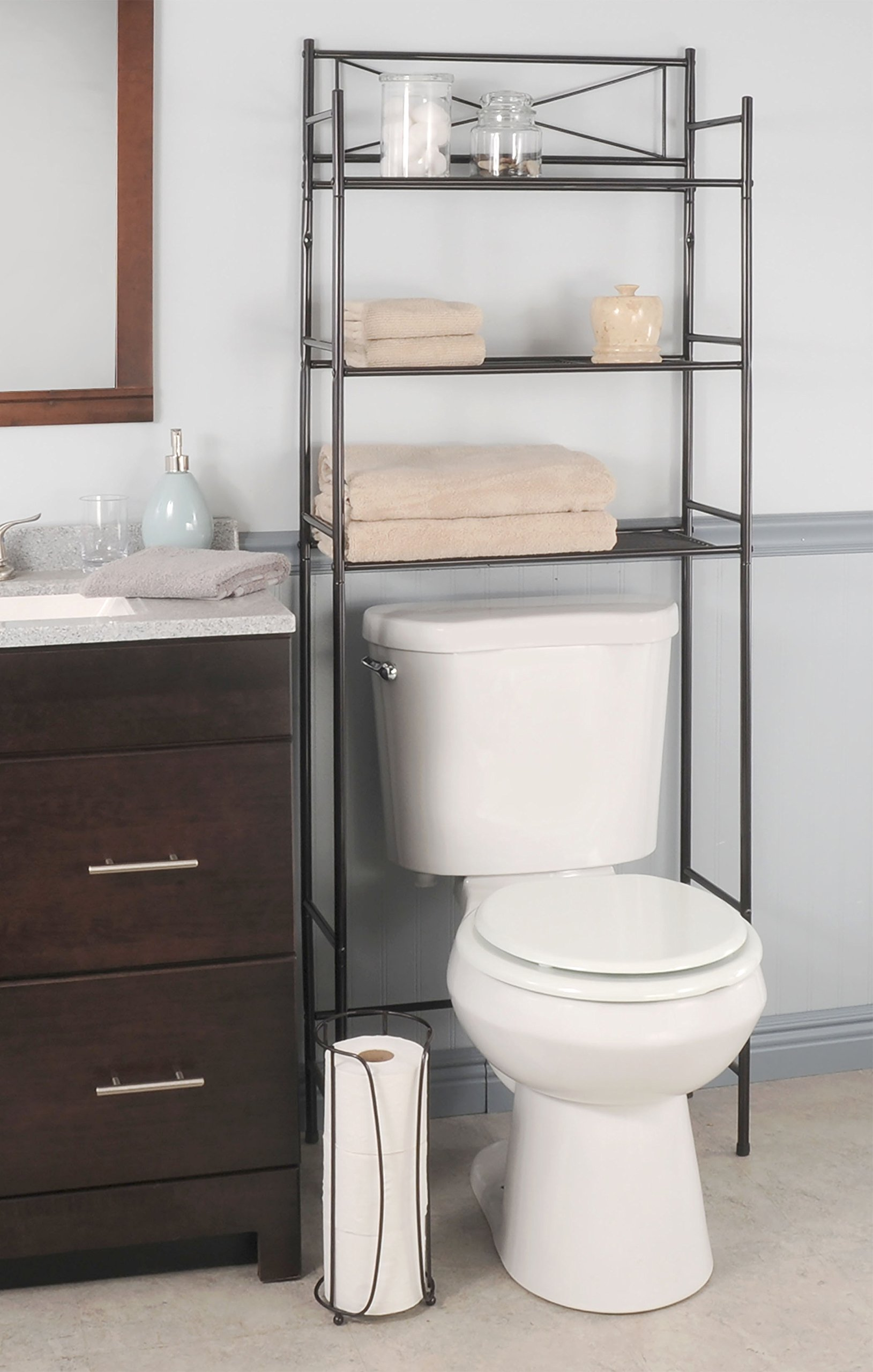 Ldr Bathroom Storage Space Saver Set 3 Piece Bronze Finish Amazon