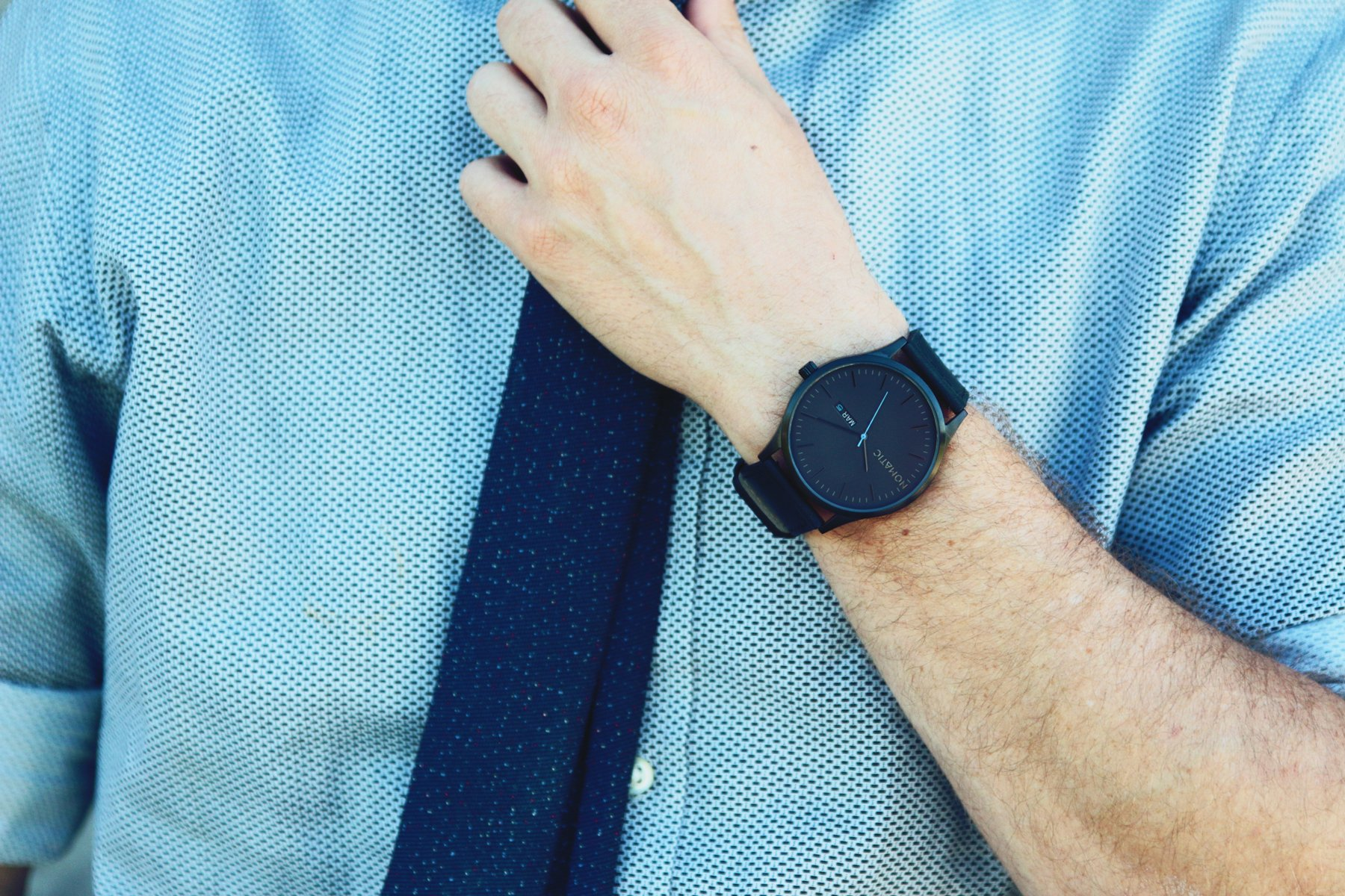 The Nomatic Leather Band Water Resistant Watch - Black by NOMATIC (Image #2)