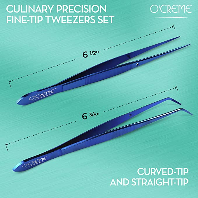 OCreme Pr/äzisions-Pinzette aus Edelstahl 8 blau