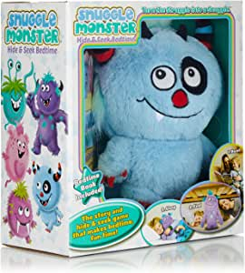 Continuum Games Snuggle Monster - Hide and Seek Bedtime Plush Toy and Book - Blue
