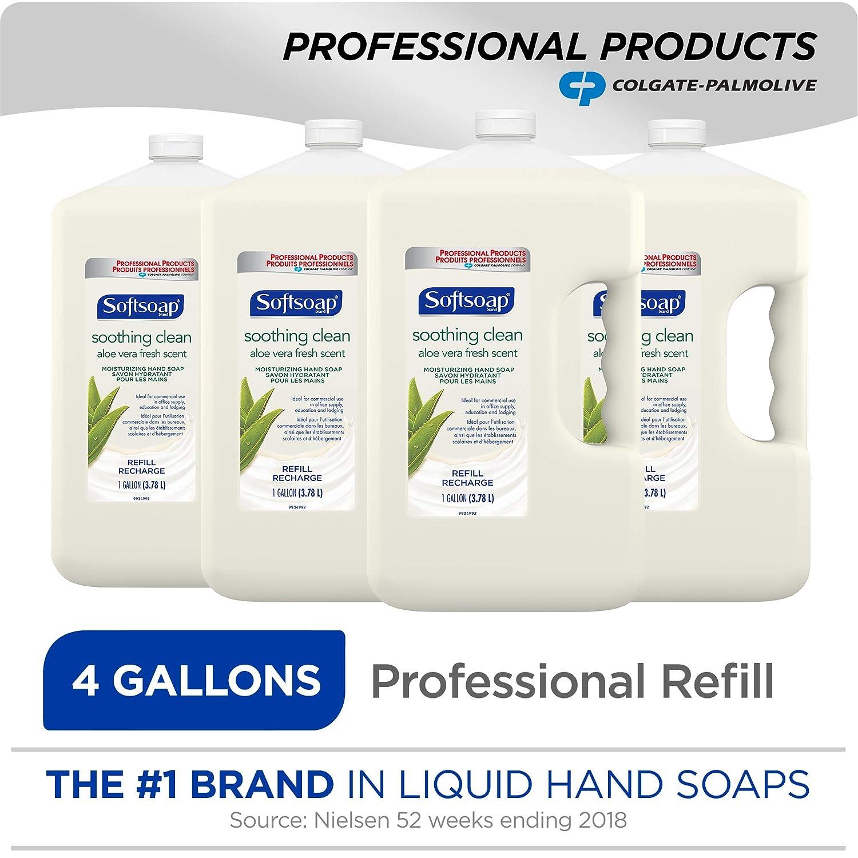SOFTSOAP Liquid Hand Soap Refill, Soothing Aloe Vera, 1 Gallon (Pack of 4) (201900)