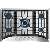 """Empava 30"""" 5 Italy Sabaf Burners Gas Stove Cooktop Stainless Steel EMPV-30GC5B70C, 30 Inch"""