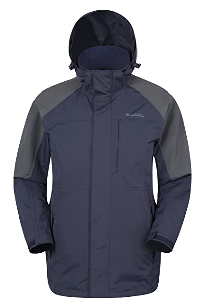Mountain Warehouse Chaqueta Larga Impermeable Ridge para Hombre Azul Marino S: Amazon.es: Ropa y accesorios
