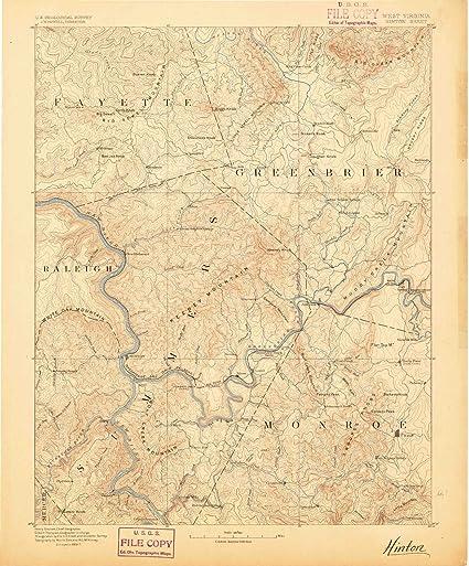 Amazon.com : YellowMaps Hinton WV topo map, 1:125000 Scale, 30 X 30 ...