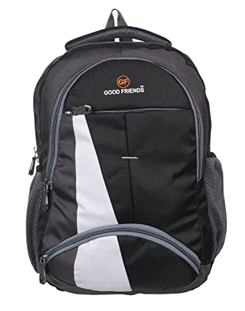 PETER INDIA Good Friends Waterproof Polyester 15.6 Laptop Backpack (Black) fca1a249a2ca7