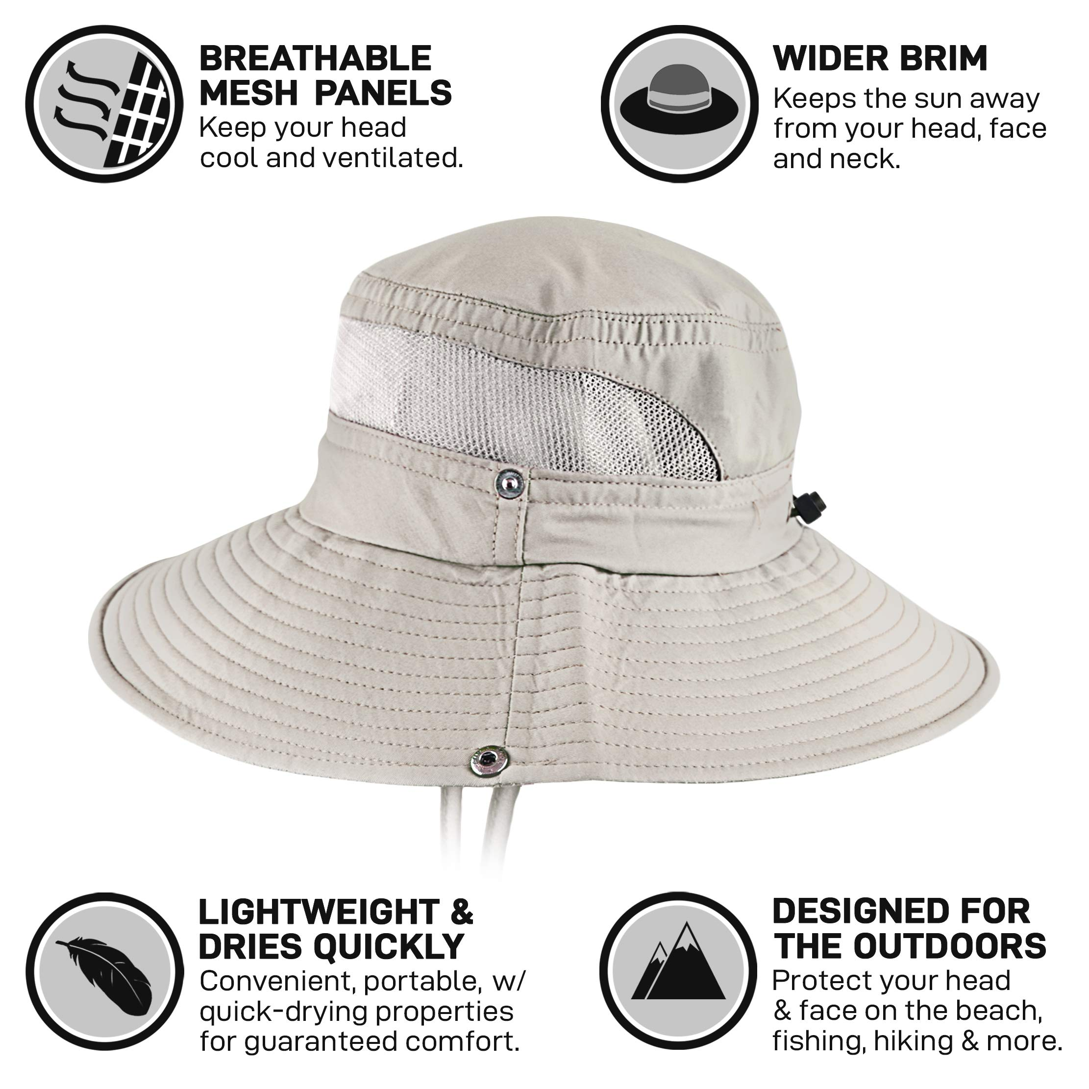GearTOP Sun Hats for Women and Men | This Summer Cap is Your Best Choice for Sun Protection (Beige Fishing Hat) by GearTOP (Image #3)