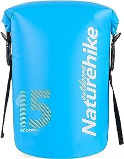 TRIWONDER Bolsa impermeable a prueba de agua 10L / 15L / 25L, saco flotante con tapa en rollo mantiene el equipo seco para practicar kayak, rafting, canotaje, natación, acampada, senderismo, playa, pesca (Azul - 25L) natación OS1856BE-25