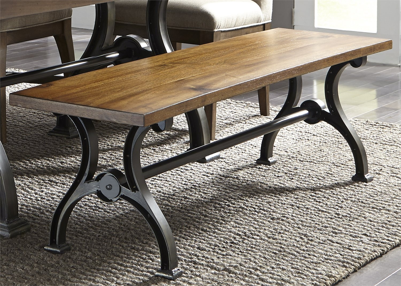 Liberty Furniture 411-C9000B Arlington House Dining Bench, 64'' x 16'' x 18'', Cobblestone Brown