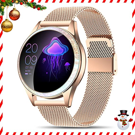 Yocuby Smart Watch for Women,Bluetooth Fitness Tracker Compatible with iOS,Android Phone, Sport Activity Tracker with Sleep/Heart Rate Monitor, ...