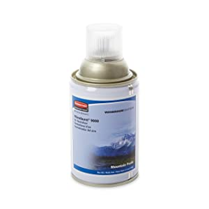Rubbermaid Commercial 4012461 Microburst 9000 Air Freshener Refill, Mountain Peaks, 5.3oz, Aerosol