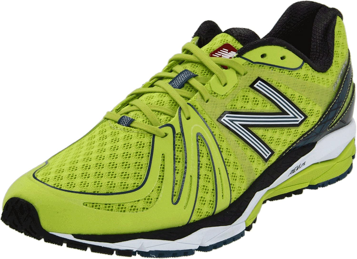 New Balance Men's M890B2 Running Shoe,Silver/Blue,11 2E US B005BVBPR0 12.5 D(M) US|Lime/Black