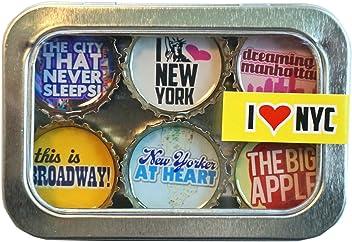 Kate Grenier Designs New York City Bottle Cap Magnets