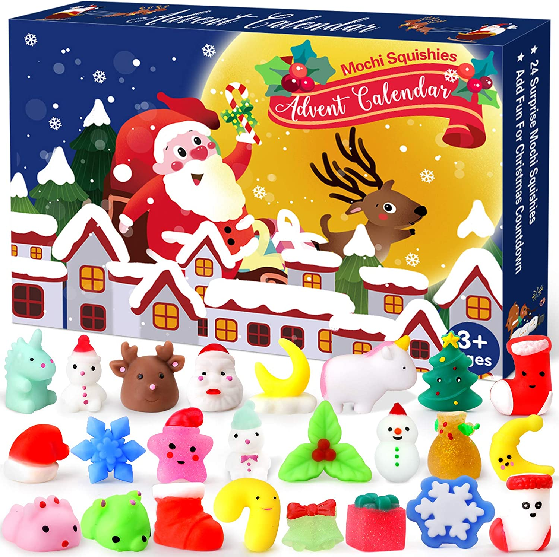 Amazon Com Christmas Advent Calendar 2020 Countdown Calendars Toys For Kids Ludilo Christmas Mochi Squishy Toys 24pcs Different Cute Mochi Animals Relief Stress Toys Unique Advent Calendars For Girls Boys Toys Games
