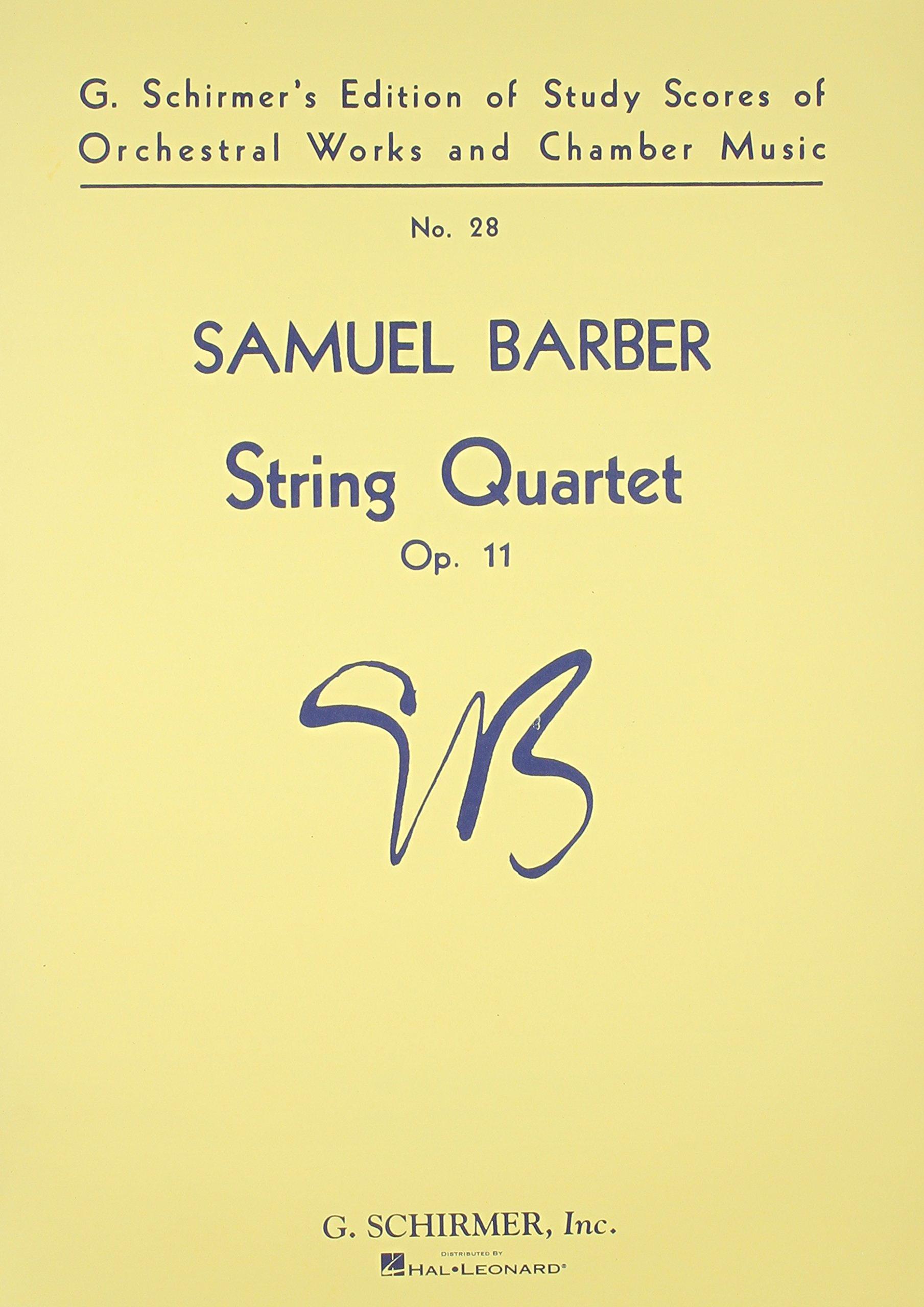 String Quartet, Op. 11: Study Score No. 28