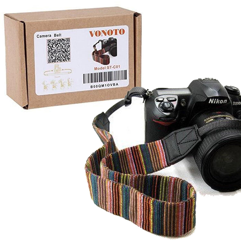 VONOTO カメラ ソフトショルダーネックストラップ ビンテージ滑り止めベルト 全デジタル一眼レフカメラ用 キヤノン Nikon ソニー ペンタックス B00QM1OVBA