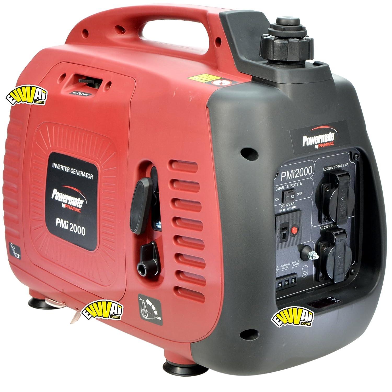PMi 2000 Inverter Stromerzeuger / Generator, 230V, 1500 W, 4-Takt OHV Motor (Benzin)