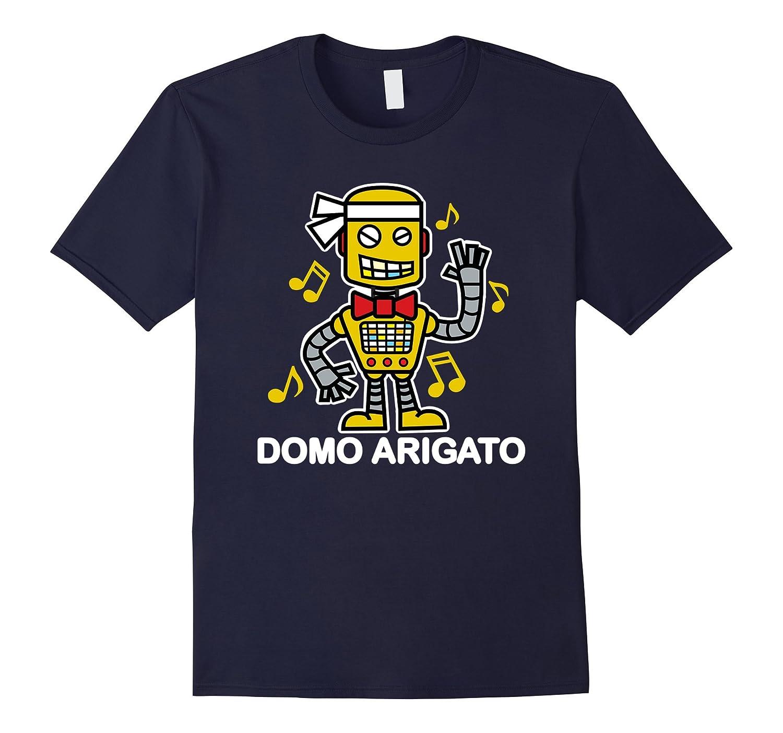 Domo Arigato Robot 80s Music Graphic T-Shirt (Dark)-FL