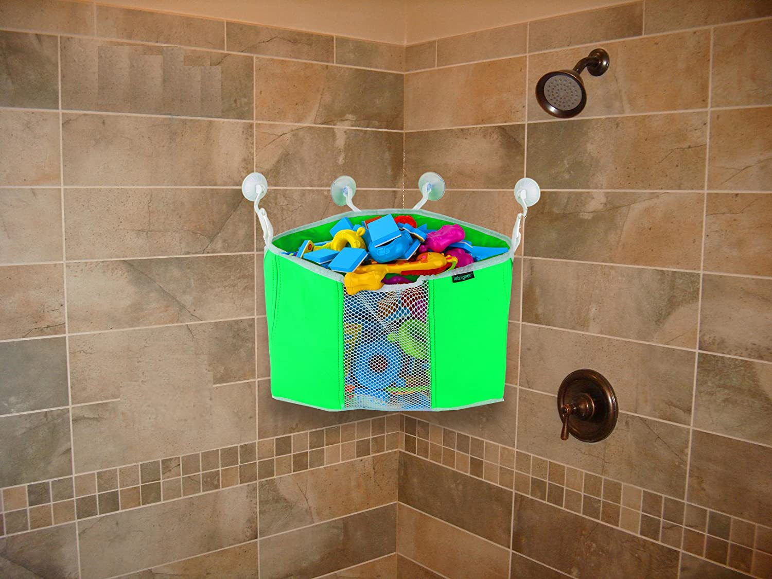 Amazon.com : Corner Toy Shower Caddy By Lebogner - Baby Bath Toy ...