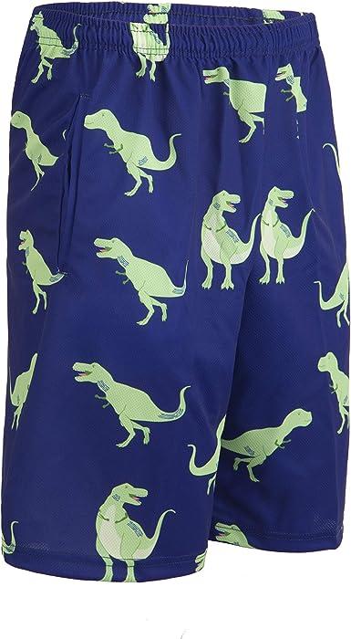 Lacrosse Shorts T-Rex Dinosaur Knee Length with Deep Pockets Pattern