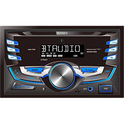 JENSEN MPR529 Double DIN Car Stereo Receiver with 7 Character LCD Built-in Bluetooth/MP3/USB [5Bkhe1004816]