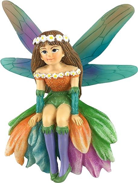 GlitZGlam Daisy Maravillosa Hada en Miniatura para Jardín de Hadas/Jardín en Miniatura: Amazon.es: Hogar