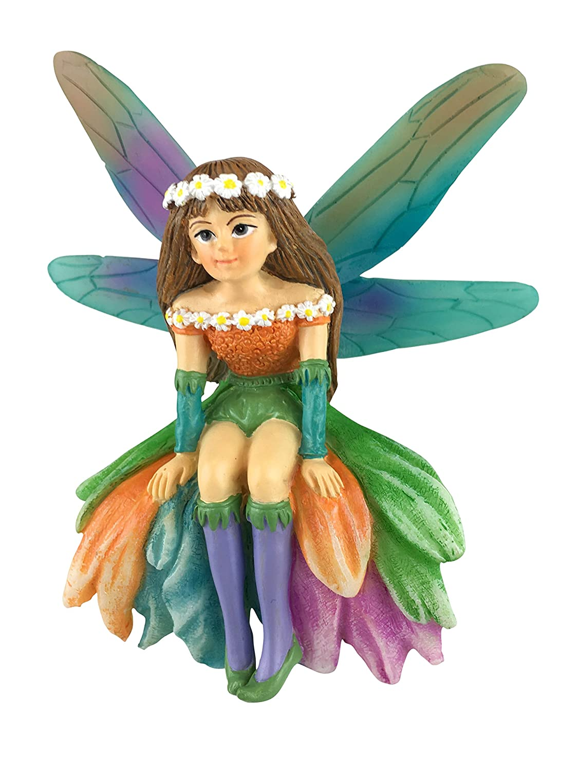 GlitZGlam Daisy The Gorgeous Miniature Fairy for Your Fairy Garden/Miniature Garden