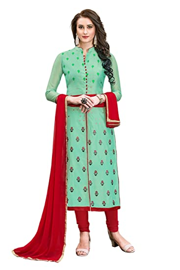 Buy Luxxix Enterprise Incredible Light Green Color Embroidered Women S Girl S Modal Cotton Salwar Suit With Matching Bottom Dupatta Lstmsmslvn6009 2 2 At Amazon In,Mint Green Combination Color