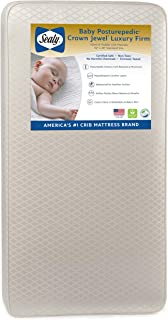 """product image for Sealy Baby Posturepedic Crown Jewel Luxury Firm Toddler & Baby Crib Mattress - 220 PostureTech Coils, Waterproof & Stain-Resistant Cover, 51.7"""" x 27.3"""""""