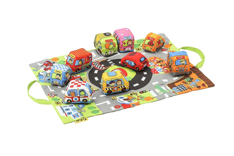 K's Kids Couverture de sol préscolaire avec multiples activités les voitures de ma ville K' s Kids TYKK10665