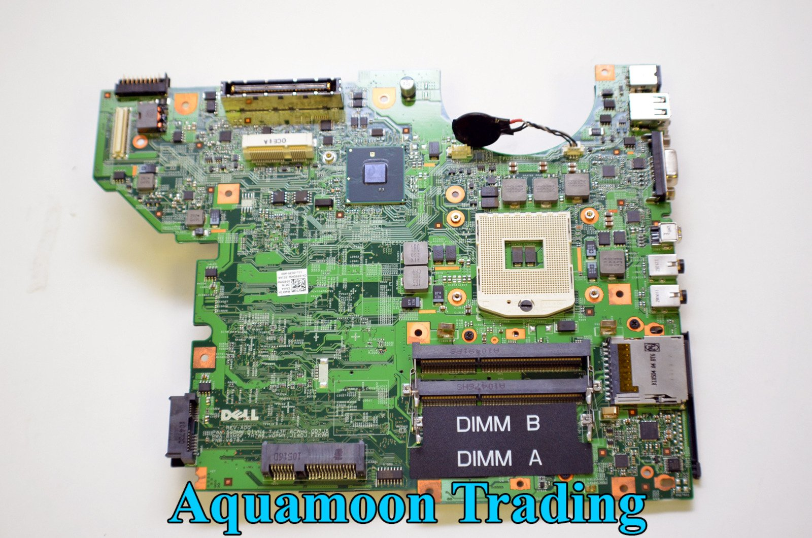 NEW Genuine OEM DELL Latitude E5410 Laptop Notebook Intel GMA Chipset Pentium Cpu Processor Slot DDR3 Dimm PMCIA Insert VGA USB Internal Data Computing Performance Motherboard D1VN4 59dmw Main Logic System Board