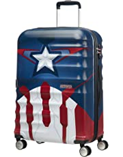 American Tourister - Disney Wavebreaker Spinner Marvel, 67cm, 64 Liter, Captain America Close-Up