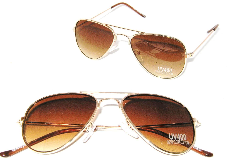 bb66ba495a6ac Amazon.com  Aviator Baby Boys Girls A2 Gold Frame Ages 0-3 Pilot Sunglasses   Clothing