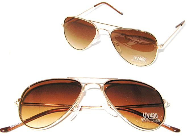 79dfca2272 Amazon.com  Aviator Baby Top Gun Pilot Kids Sunglasses (Gold ...