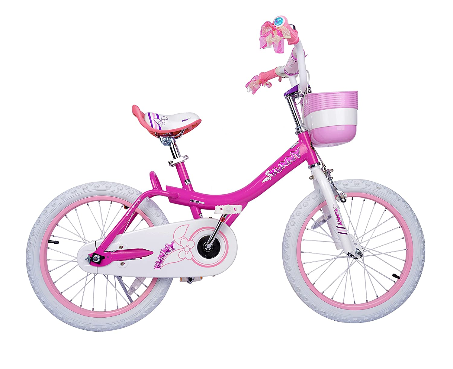 Royalbaby Jenny & Bunny Girl's Bike, 12-14-16-18 inch Wheels, Pink and Fuchsia ROYALBABY CYCLE BEIJING CO. LTD.