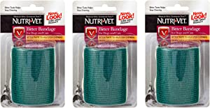 Nutri-Vet 3 Pack of Bitter Bandage for Pets, 2 Inches Wide, Discourages Chewing