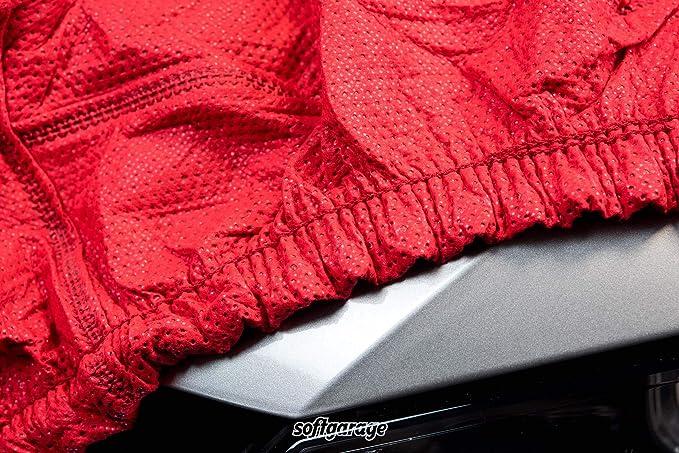 Softgarage 3 Lagig Rot Indoor Atmungsaktiv Wasserabweisend Car Cover Vollgarage Ganzgarage Autoplane Autoabdeckung 203020 7100ado Auto
