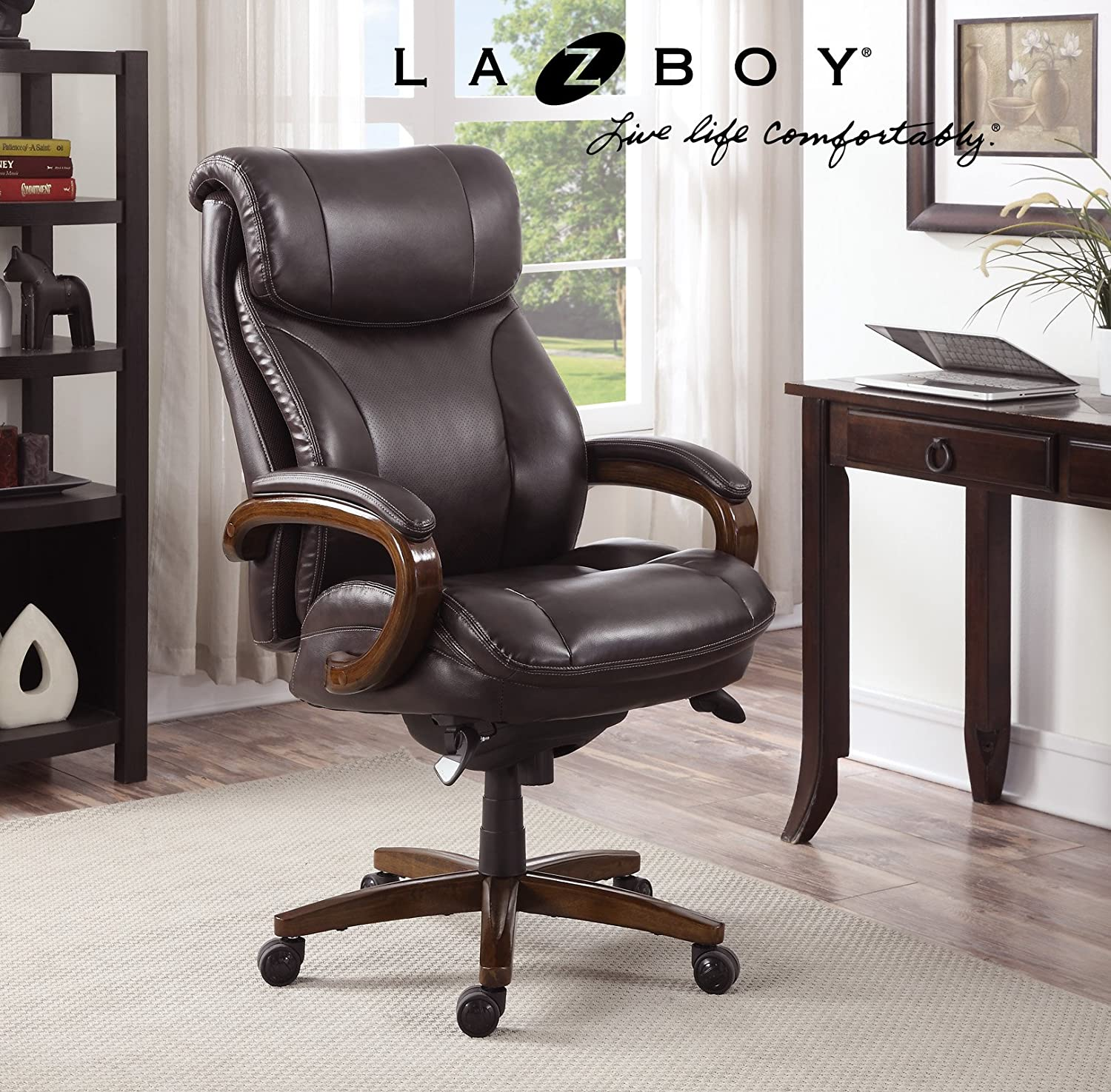 Amazon La Z Boy Trafford Big & Tall Executive Bonded Leather